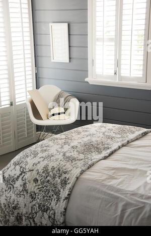 Interior of modern bedroom - Stock Image