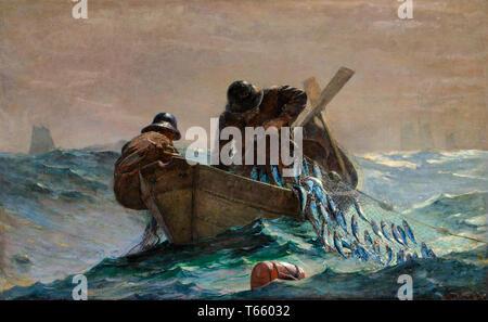 Winslow Homer, The Herring Net, painting, 1885 - Stock Image