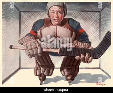 Young Goalie - Stock Image
