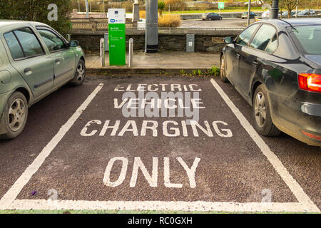 electric car charging point - Stock Image