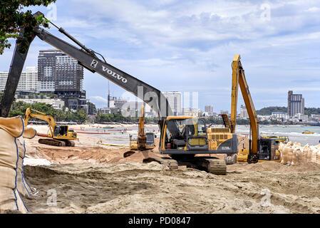 Beach reclamation Pattaya Thailand Southeast Asia - Stock Image
