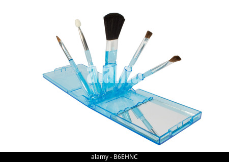 Set of makeup brushes with mirror - Stock Image