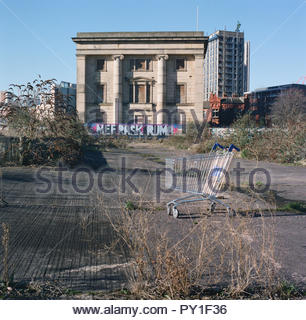 Curzon Street - former railway station in central Birmingham, awaiting redevelopment as part of the HS2 project. West Midlands, UK. photoFebruary 2018 - Stock Image