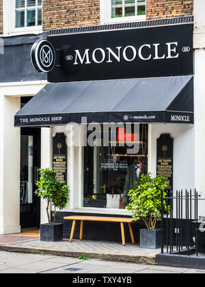 Monocle Shop London - the Monocle Store at 2 George St, Marylebone, London - Stock Image