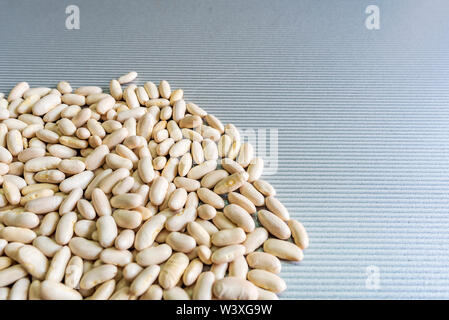 Haricot beans isolated on table background with copy space - Stock Image
