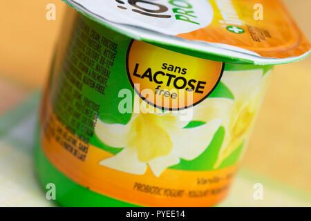 Lactose Free Yogurt - Stock Image