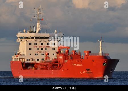Product tanker Sten Fjell inbound Kiel Fjord - Stock Image