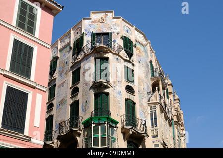 Gebäude Can Forteza-Rey, Palma, Mallorca, Spanien, Europa.   Building Can Forteza-Rey, Palma, Majorca, Spain, - Stock Image