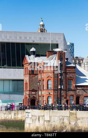 The Pilotage building, near Canning Dock, River Mersey, Liverpool. The building was opened in 1883 to house management of the port's pilot boats. - Stock Image