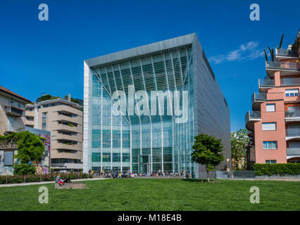 Museion, Museum of Modern and Contemporary Art, postmodern style, in Bolzano (Bozen), Trentino-Alto Adige, Italy - Stock Image
