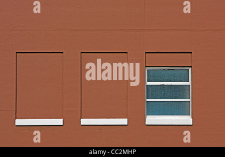 concrete wall with window in government building - Stock Image