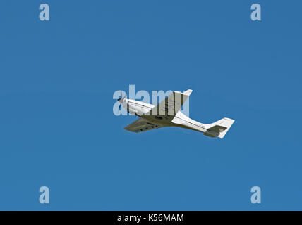 French Registered Cessna 172 departing from Inverness Dalcross airport in the Scottish Highlands UK. - Stock Image
