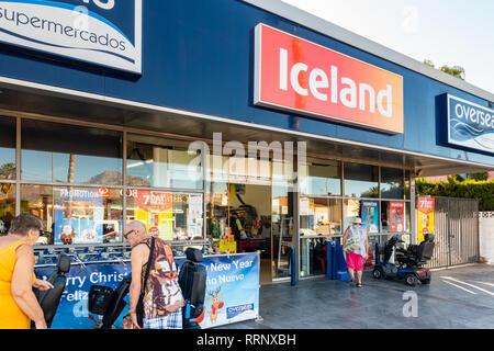 Frozen food specialist Iceland Overseas retail outlet in Avenida Doctor Severo Ochoa Benidorm. - Stock Image