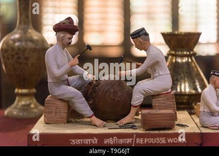 Repousse Work clay model, Dr Bhau Daji Lad Museum, Mumbai, India - Stock Image