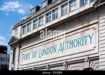 Port of London Authority sign, Charterhouse Street London England. - Stock Image