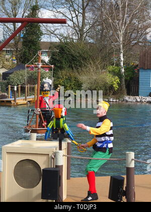 Pirates Of Skeleton Bay Show - daily action-packed show featuring actors in pirate costume at Legoland Windsor Resort UK - Stock Image