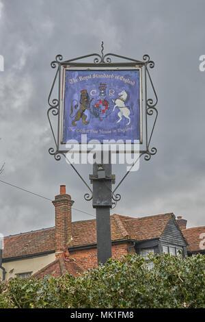 royal standard of England - Stock Image