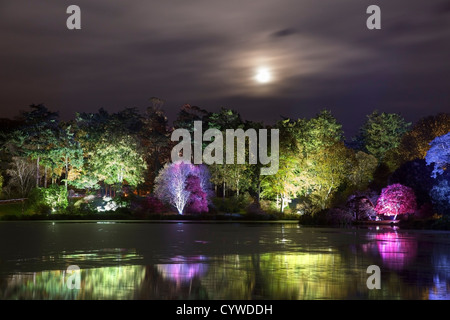 Enchanted garden at Halloween in the grounds of Mount Stewart, Northern Ireland. - Stock Image
