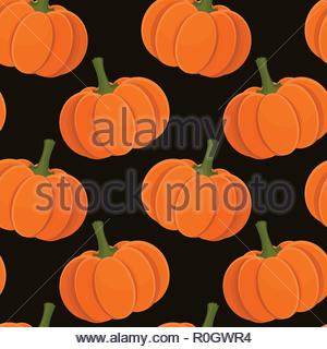 Pumpkin seamless pattern - Stock Image