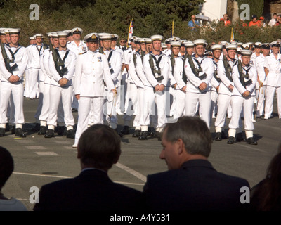 Sailors on parade during the Honorary Freedom of the City of Gibraltar Ceremony, 2004 - Stock Image
