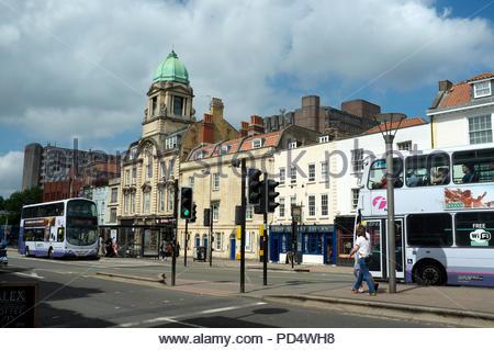 Old Market Street in central Bristol, UK. - Stock Image