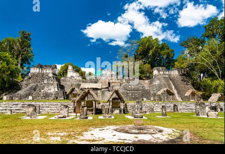 North Acropolis at Tikal in Guatemala - Stock Image