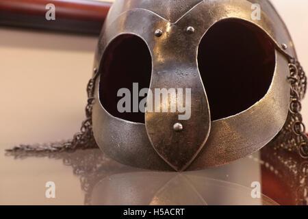 Viking  battlehelmet - Stock Image