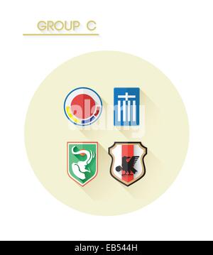 Group c with country crests - Stock Image