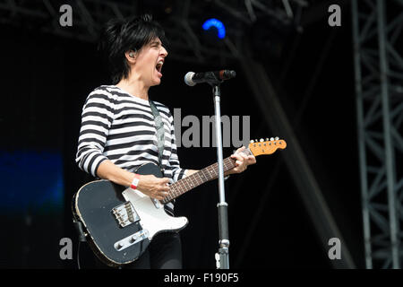 Portsmouth, UK. 29th August 2015. Victorious Festival - Saturday. Sharleen Spiteri of Texas during their set on - Stock Image