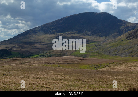 Lonesome Road #39. Mountain landscape with distant road - Stock Image