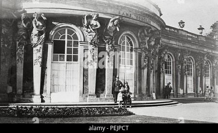 1928 1920s Germany Potsdam Sanssouci is the summer palace of Frederick the Great, King of Prussia, in Potsdam, near Berlin - Stock Image