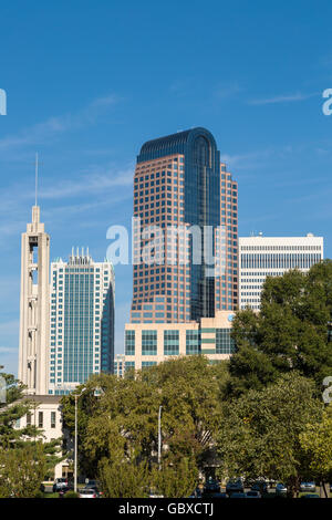 Charlotte skyline, NC, USA - Stock Image