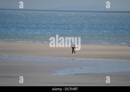 Saundersfoot Beach Pembrokeshire, Wales, in Early June - Stock Image