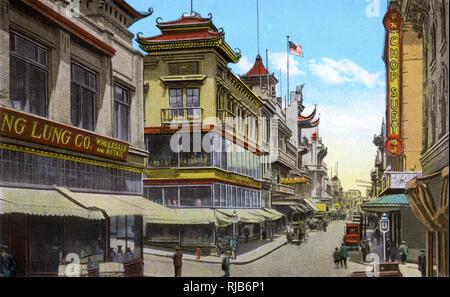 San Francisco, California, USA - Street Scene in Chinatown - Stock Image