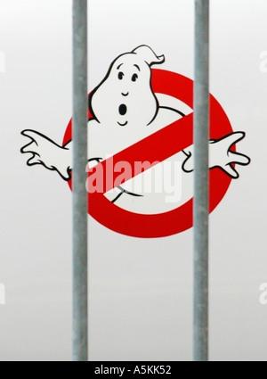 Universal Studios Ghost Busters Emblem Orlando Florida USA 2002 - Stock Image