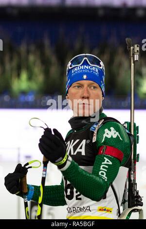 Lukas Hofer (ITA). JOKA Biathlon World Team Challenge 2018 auf Schalke. - Stock Image