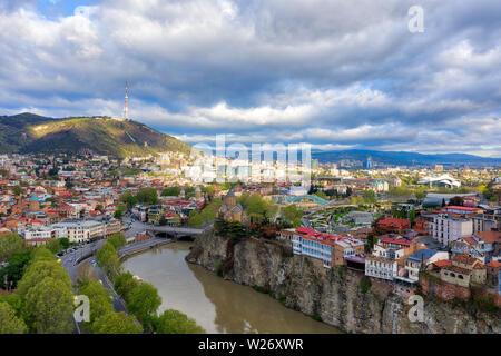 Tbilisi Downtown, Georgia, taken in April 2019rn' taken in hdr - Stock Image