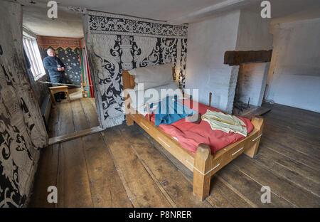 Shakespere's bithplace  Tudor Bed - Stock Image