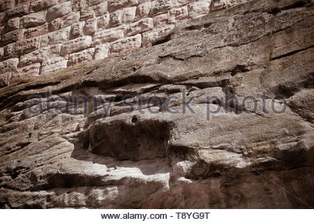 The castle wall of the castle Nuremberg - Stock Image