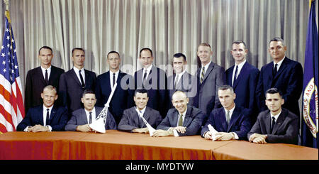 Astronaut Group Three announced on October 18, 1963. - Stock Image