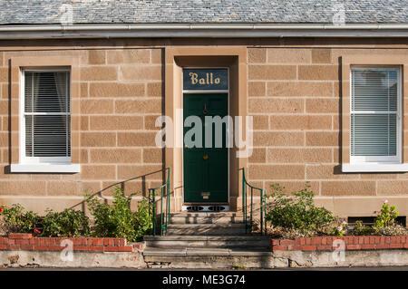 Georgian period stone cottage in Battery Point, Hobart, Tasmania, Australia - Stock Image