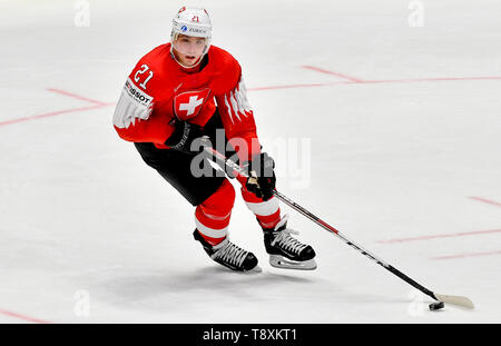 Kevin Fiala (CH) in action during the match between Switzerland and Norway within the 2019 IIHF World Championship in Bratislava, Slovakia, on May 15, 2019. (CTK Photo/Vit Simanek) - Stock Image