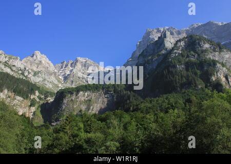 Mount Glarnisch, high mountain in Glarus Canton, Switzerland. - Stock Image
