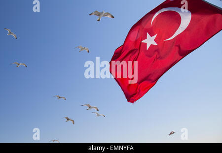 Turkish flag - Stock Image