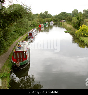 Barges on the Grand Union Canal Near Hemel Hempstead - Stock Image