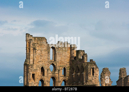 Picturesque ruins of Tynemouth Priory, Tynemouth, Tyne and Wear, England, UK. - Stock Image