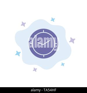Watch, Time, Timer, Clock Blue Icon on Abstract Cloud Background - Stock Image