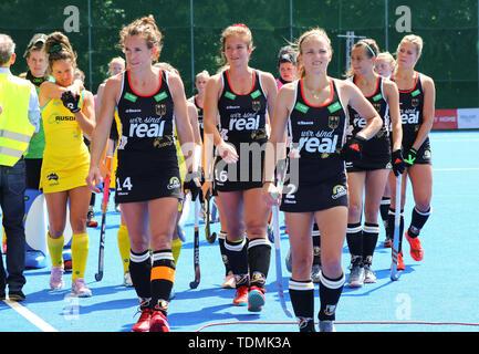 Krefeld, Germany, June 16 2019, hockey, women, FIH Pro League, Germany vs. Australia:  Players of Germany LtoR Janne Mueller-Wieland, Sonja Zimmermann - Stock Image