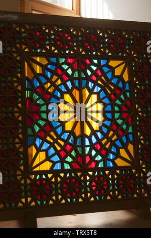 Azerbaijan, Sheki (Shaki), upper town historical district, handicrafts on display - Stock Image