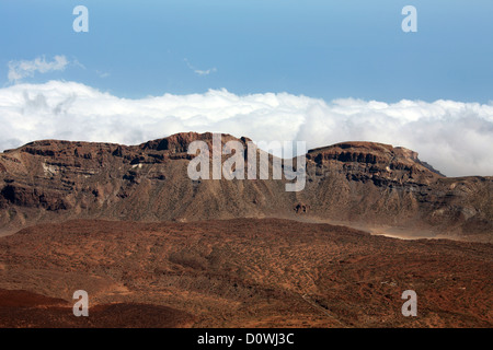 Mount Teide, Tenerife, Canary Islands. View from the Top of the Volcano. - Stock Image